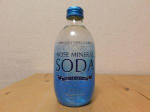 能勢町産ミネラルウォーターに炭酸を加えた ノセ・ミネラルソーダ